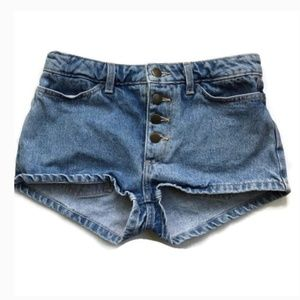 American Apparel Size 27 Button Fly Jean Shorts
